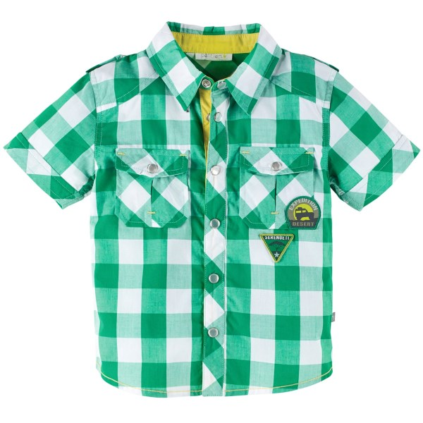 Petit Lem Snap Front Shirt - Cotton, Short Sleeve (for Little Boys)