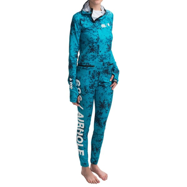686 AirHole Thermal One Piece Base Layer Lightweight, UPF 30+, Long Sleeve (For Women)
