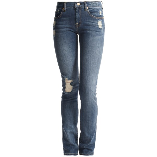 7 For All Mankind Distressed Jeans - Straight Leg (for Girls)