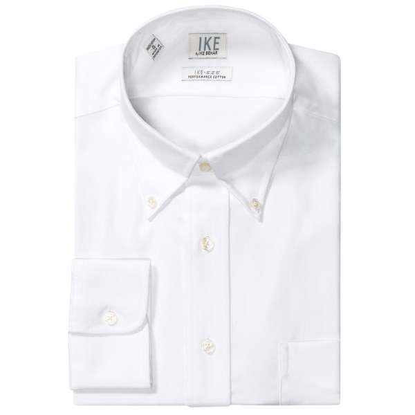 Ike By Ike Behar No-iron Solid Twill Dress Shirt - Button-down, Long Sleeve (for Men)