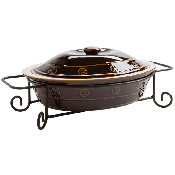 Mandf Western Products Silverado Casserole Dish And Stand