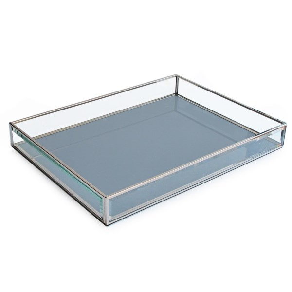 Accents By Jay Glass Rectangular Tray - 12x16?