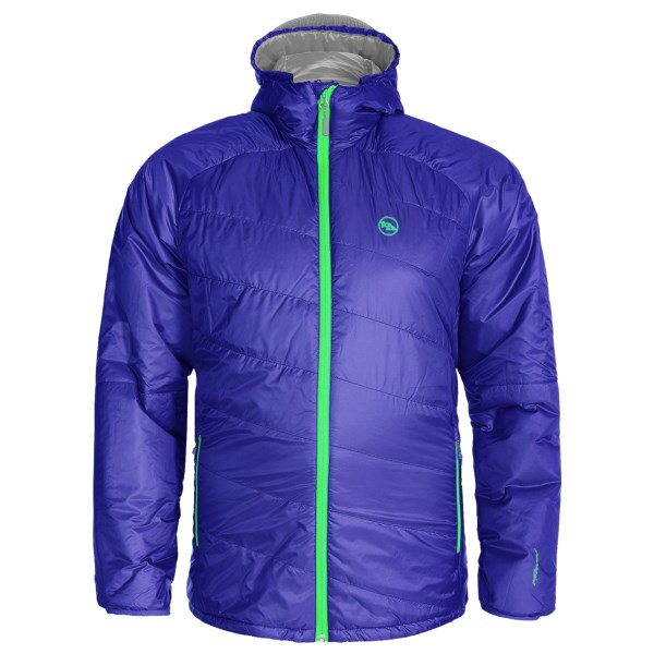 CLOSEOUTS . With a slanted-quilt design, 60g synthetic insulation and a relaxed fit, Big Agnesand#39; Farnsworth jacket is ready for cold mornings at camp and chilly winds on exposed summits. Available Colors: BRILLIANT BLUE/COOL GRAY, COOL GRAY/SUNFLOWER. Sizes: XS, S, 2XL.