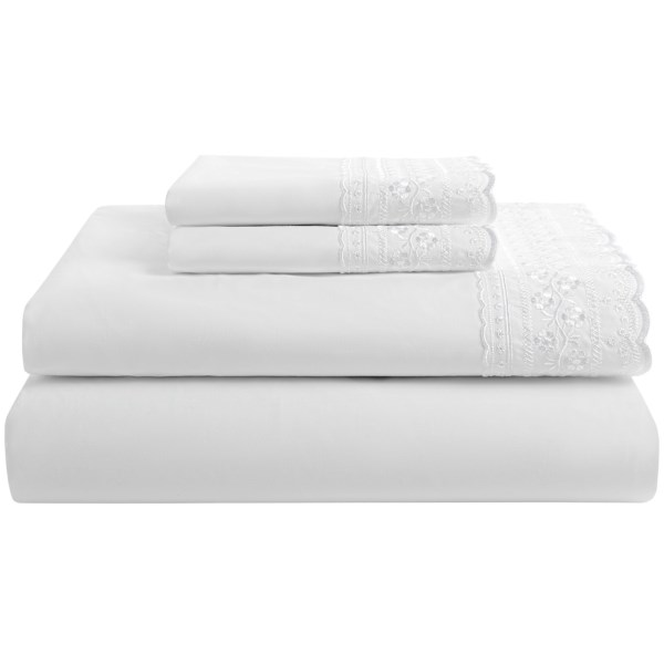 Heirloom Collection Kate Lace Sheet Set - 200 Tc Cotton Percale, Queen