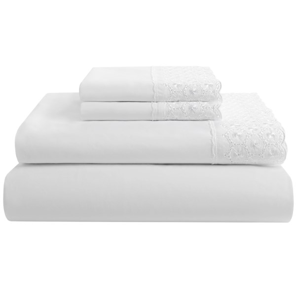 Heirloom Collection Emma Lace Sheet Set - 200 Tc Cotton Percale, King