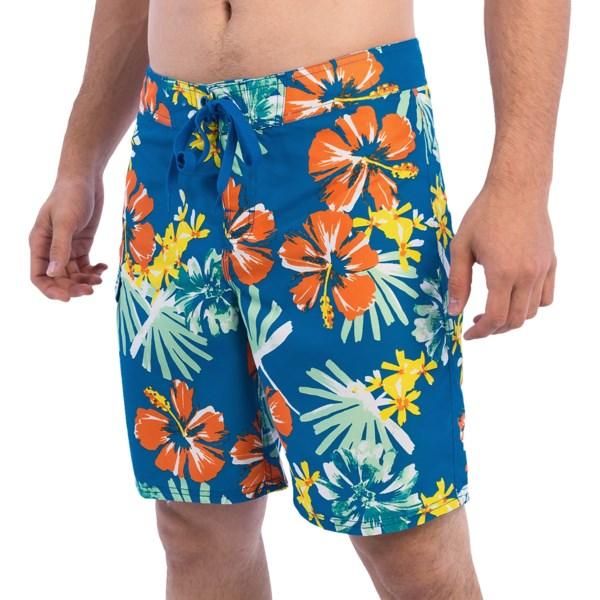 Gotcha Hibiscus Print Boardshorts (for Men)
