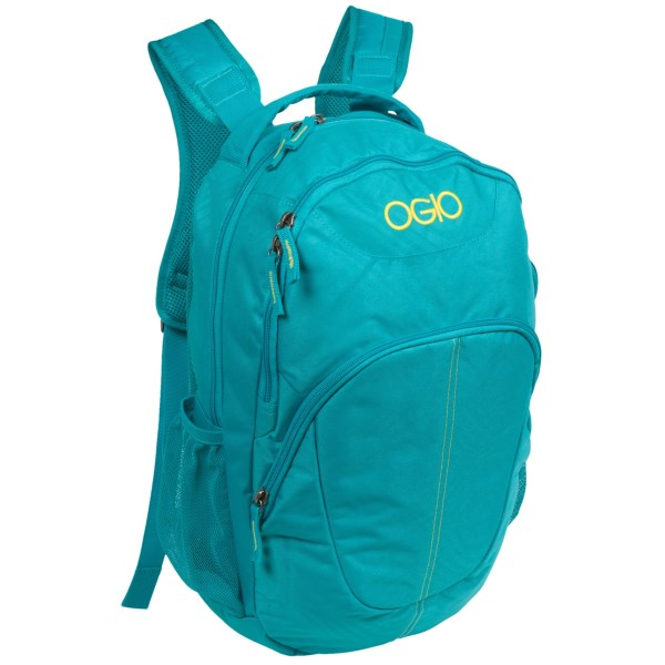 CLOSEOUTS . A comfortable daypack for campus and commuting, OGIOand#39;s Rebellious backpack boasts integrated laptop and tablet sleeves and a breathable, mesh-padded back panel. Available Colors: BLUE ONION.