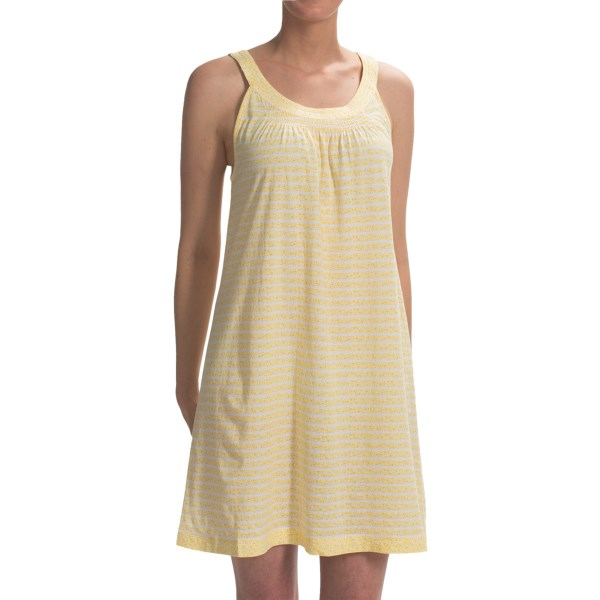 CLOSEOUTS . Dream time is the perfect time for Carole Hochmanand#39;s Dreamtime Ditsy chemise, comfortable for warmer weather in lightweight cotton and just as sweet as can be in its colorful, feminine print. Available Colors: BLUE FLORAL STRIPE, YELLOW DITSY PRINT. Sizes: XS, L, XL, 2X, 3X, S, M.
