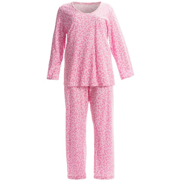 Carole Hochman Blooming Roses Pajamas - Long Sleeve (For Plus Size Women)