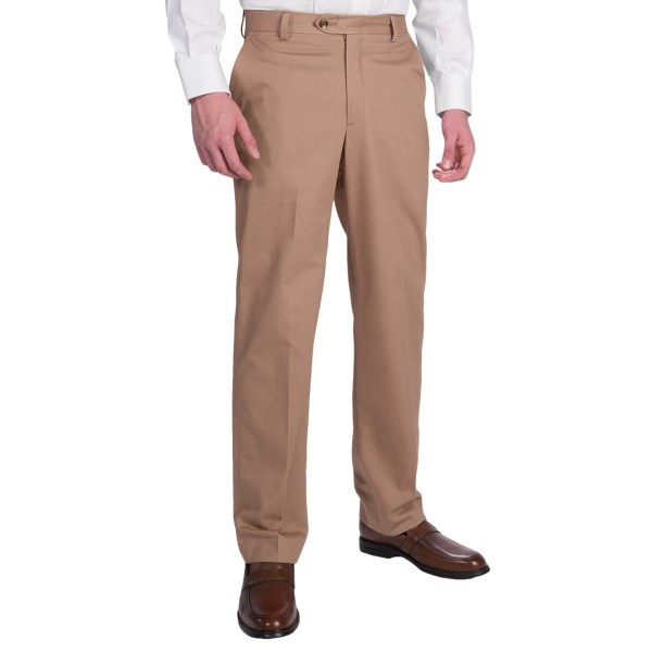 Berle Brushed Cotton Twill Dress Pants (for Men)