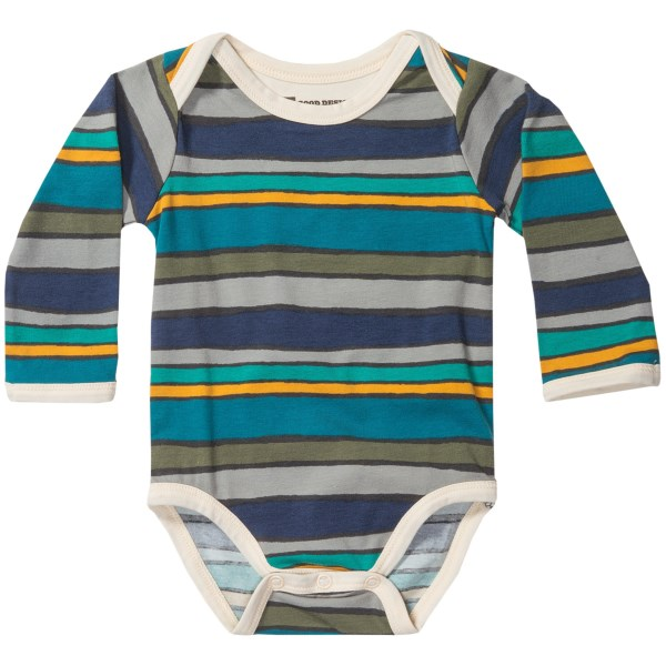 Pact Snapster Baby Bodysuit - Stretch Organic Cotton, Long Sleeve (for Infants)