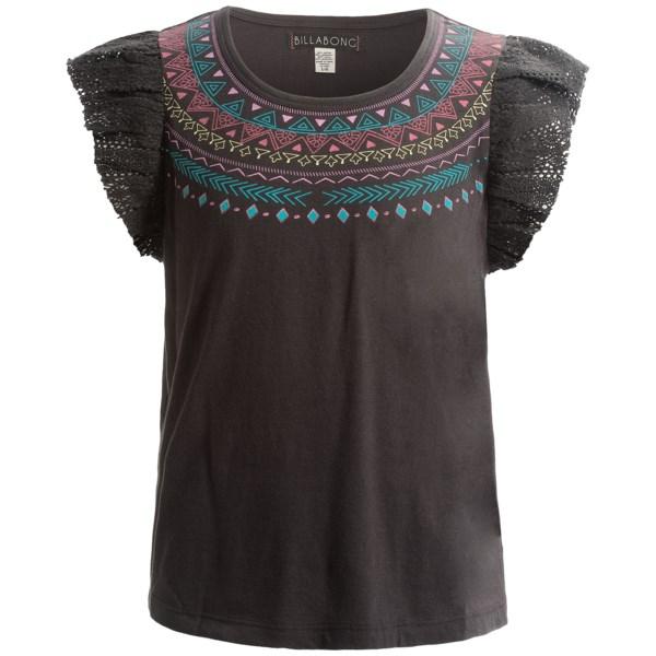 Billabong Still Seas Crochet Ruffled Shirt - Short Sleeve (for Little And Big Girls)