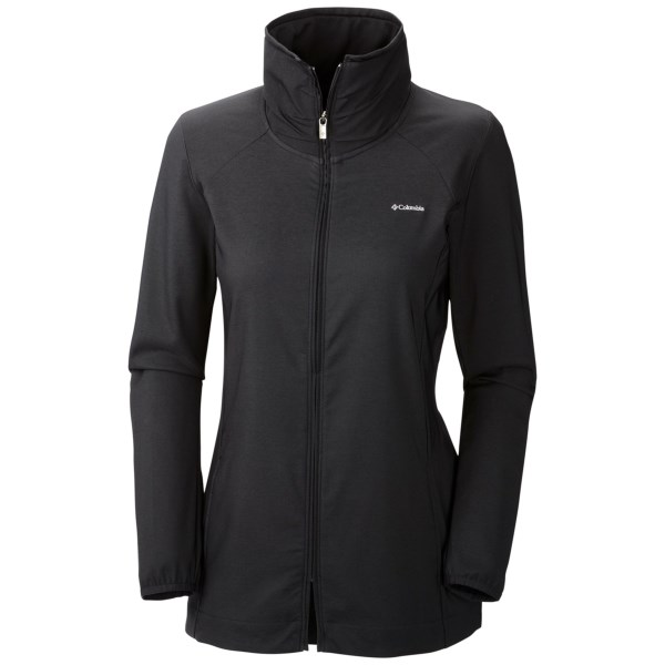 CLOSEOUTS . A light, rain- and sun-busting superstar of the active world, the Columbia Sportswear Back Beauty Hybrid jacket does double duty as a weather protector and sun shader. The stretchy-soft Max Lite exterior is treated with Omni-Shieldand#174; technology and UPF 50 to become your versatile on-the-go wardrobe essential. Available Colors: BLACK. Sizes: XS, S.