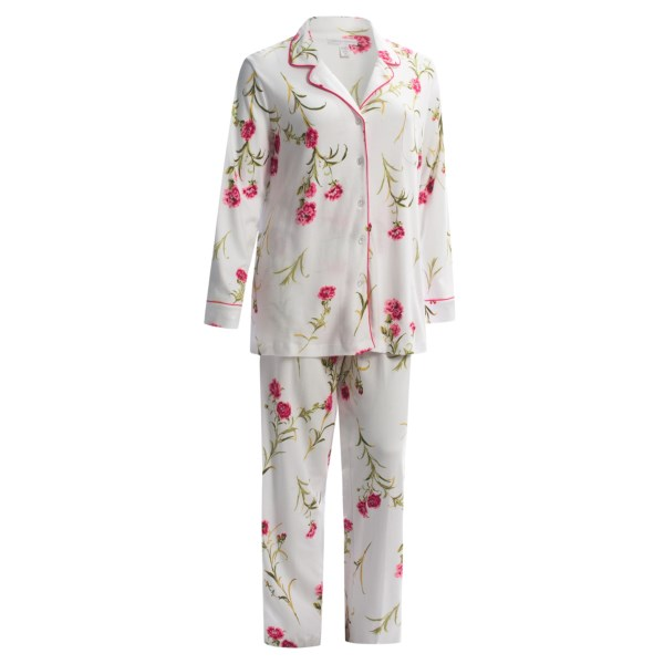Carole Hochman Falling Floral Pajamas - Long Sleeve (For Plus Size Women)