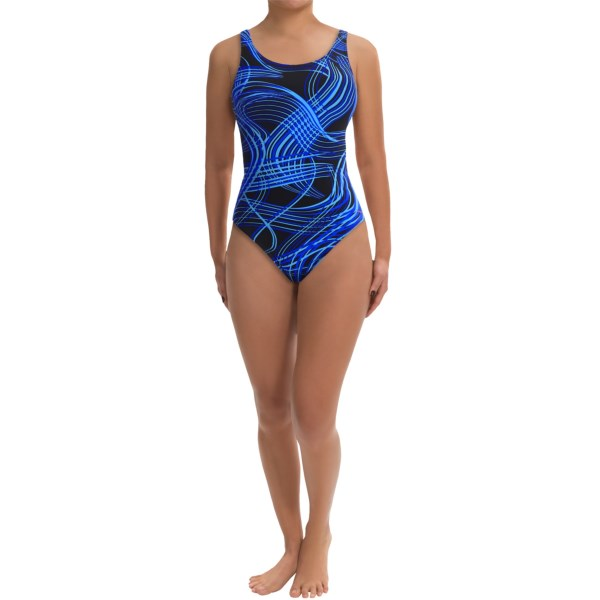 CLOSEOUTS . This meet, youand#39;re setting a record -- and youand#39;ll do it in Dolfinand#39;s LTF Series competition swimsuit, crafted of high-compression fabric to reduce muscle fatigue and finished with a supportive, coverage-enhancing HP back. Available Colors: GOLD VERVE PRINT, RED VERVE PRINT, GREEN VERVE PRINT, PURPLE VERVE PRINT, BLUE VERVE PRINT, MULTI VERVE PRINT. Sizes: 22, 24, 26, 28, 30, 32, 34, 36, 38, 40.