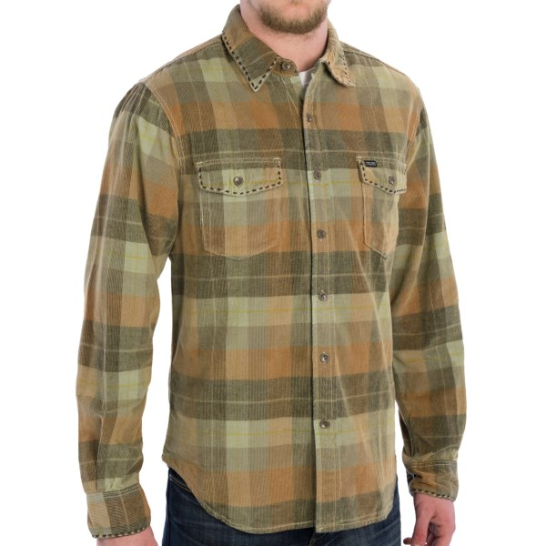 CLOSEOUTS . Weekend in the woods? Weand#39;ve got your wardrobe essential right here! The light, velvety corduroy lends a rich touch to True Gritand#39;s Canyon Cord shirt; the two-color saddle-stitched trim keeps things casual, rustic and country -- just what you need for a little escape, no? Available Colors: RED/BLACK CHECK ASPEN, OCEAN PLAID VENTURA, SAGE CHECK SUNDANCE, OCEAN CHECK MALIBU, SUNSET CHECK MALIBU, CHAMBRAY CHECK CATALINA, FADED GREEN CHECK AUSTIN, RED PLAID ALTA, EARTH/BROWN CHECK DAKOTA, INDIGO MELANGE, CHAMBRAY RAILROAD STRIPE, SUN/SAGE PLAID SUNSET, BLUE/GREY PLAID BLUEWATER. Sizes: S, M, L, XL, 2XL.
