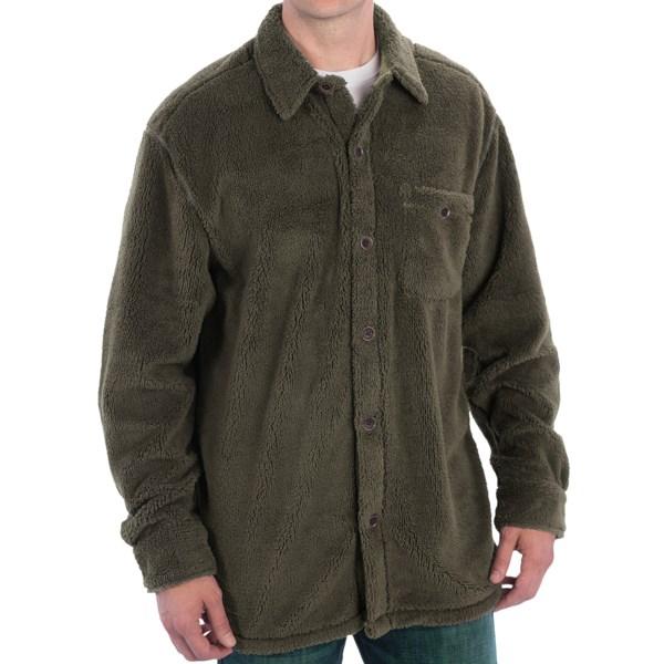 True Grit Pebble Pile Big Fleece Shirt - Button Front, Long Sleeve (For Men)