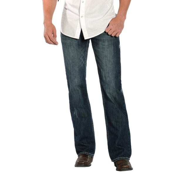 Rock And Roll Cowboy Pistol Vintage Wash Jeans - Slim Fit, Bootcut (for Men)