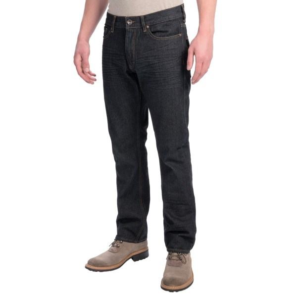 Plugg Slim Straight Fit Jeans With Flap Back Pockets - Low Rise, Tapered Leg (for Men)
