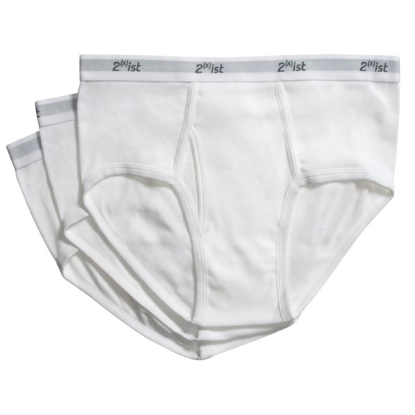 2(x)ist Cotton Underwear Briefs - 3-Pack (For Men)