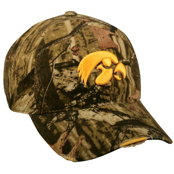 CLOSEOUTS . Represent your favorite college team -- whether youand#39;re on the hunt or in the stands -- with the Outdoor Cap Mossy Oakand#174; Infinity college cap. Its moisture-wicking Q3and#174; headband will keep you cool on intense hunts or during nail-biting games. Available Colors: GEORGIA BULLDOGS, TEXAS Aandamp;M AGGIES, TENNESSEE VOLUNTEERS, MISSOURI TIGERS, WEST VIRGINIA MOUNTAINEERS, IOWA HAWKEYES, MISSISSIPPI STATE BULLDOGS, LSU TIGERS, NORTH CAROLINA TAR HEELS, SOUTH CAROLINA GAMECOCKS, MICHIGAN WOLVERINES, BOISE STATE BRONCOS.