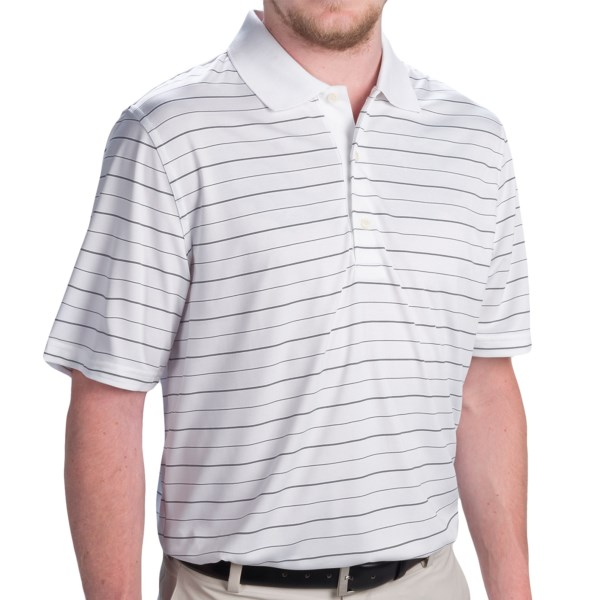 Greg Norman Jersey Stripe Sport Polo Shirt - Short Sleeve (for Men)