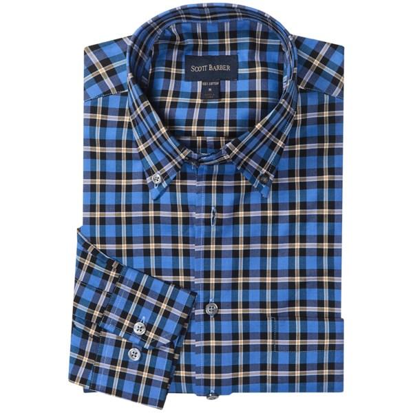Scott Barber James Plaid Shirt - Cotton Twill, Long Sleeve (for Men)