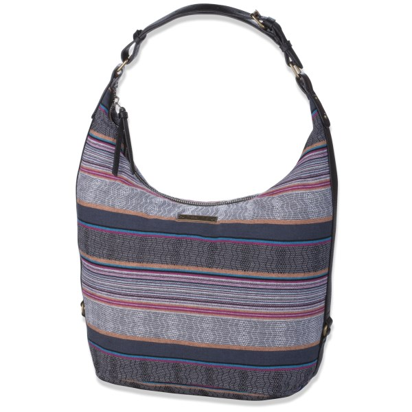 CLOSEOUTS . Your darling Clementine has arrived. This DaKine shoulder bag is a spacious hobo made from a chic fabric blend of jute and cotton. The shoulder strap adjusts so it nestles comfortably under your arm. Available Colors: BLACK, KAMALI, LUX.