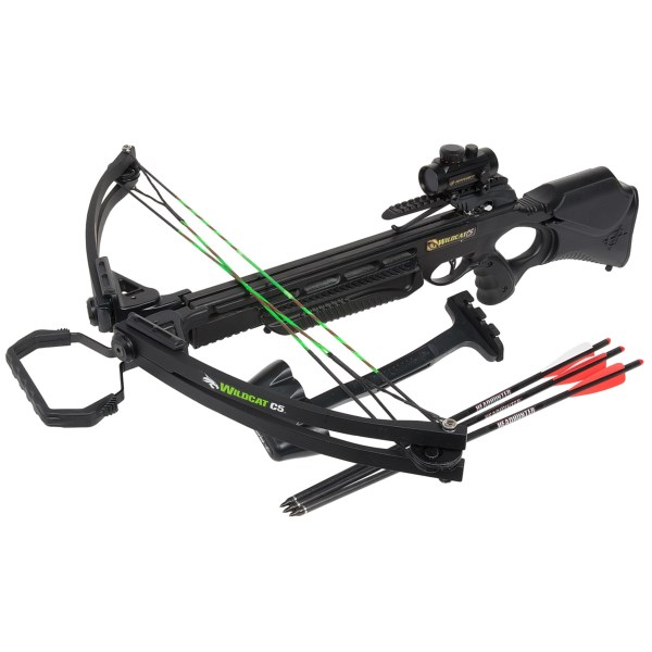 Barnett Wildcat C5 Crossbow - Quiver, Arrows, Red Dot Site