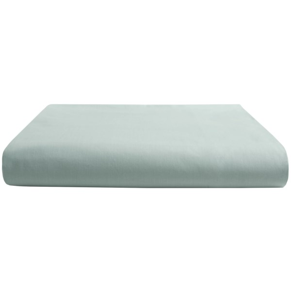 CLOSEOUTS . Crisp, cool and incredibly soft against the skin, Coyuchiand#39;s percale King fitted sheet is woven from pure organic cotton -- the perfect bedding for a hot night. And word has it that the fabric gets smoother and softer with every wash. Available Colors: MISTY AQUA. Sizes: KING.