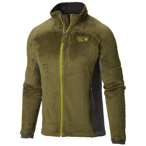 CLOSEOUTS . When cold weather calls, answer back with the low-bulk warmth of Mountain Hardwearand#39;s Monkey Man Grid II jacket. Monkey Phur fleece seals out the chill, and hardface fleece side panels deliver increased mobility for your high-intensity winter pursuits. Available Colors: UTILITY GREEN/SHARK, AZUL/SHARK. Sizes: S, M, L, XL, 2XL.