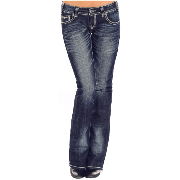 Rock And Roll Cowgirl Rhinestone Chevron Jeans - Low Rise, Bootcut (for Women)