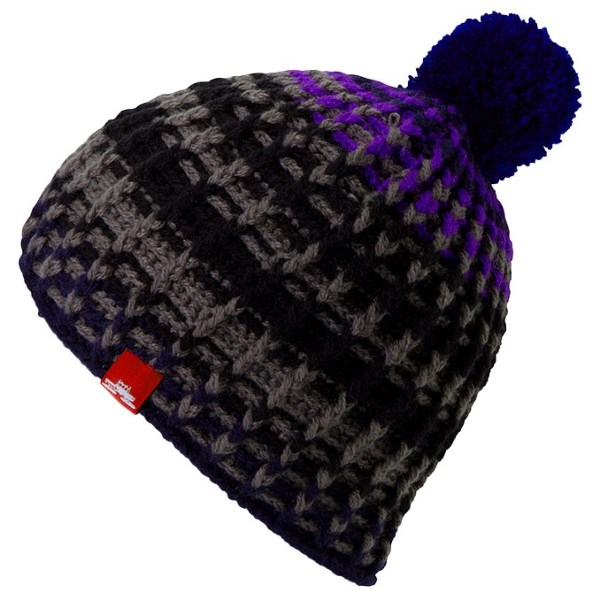 CLOSEOUTS . Vibrant yarns are knit into a thick, two-layer design in Spacecraft Collectiveand#39;s Zepplin pompom beanie, lending ample warmth and cold-blocking insulation to your winter wardrobe, complete with a cute, retro-inspired pompom topper. Available Colors: MUSTARD, PURPLE, RED. Sizes: O/S.