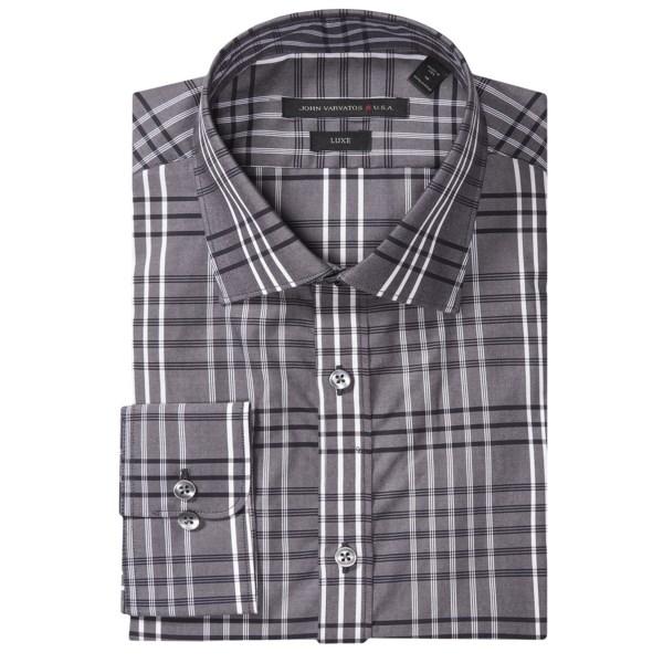 John Varvatos Star Usa Luxe Plaid Dress Shirt - Long Sleeve (for Men)