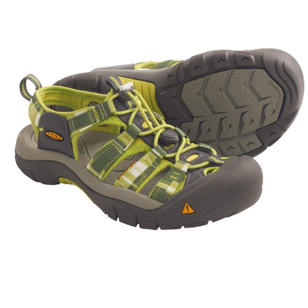 CLOSEOUTS . As comfortable in the water as they are on land, Keen's Newport H2 closed-toe sandals feature hydrophobic quick-dry polyester webbing straps with AEGIS Microbe Shield(R) treatment to eliminate odor. Available Colors: BLUE W/ LIGHT ORANGE, GREEN / DARK PINK, NAVY / DREAM, FUSCHIA / YELLOW, LILAC / GREY, PROCESS BLUE / YELLOW, PLUM / GOLDENROD, PURPLE / MANGO, KIWI/MADDER BROWN, PERIDOT/NILE/DARK GREY, PERIDOT/NILE/PALE GREY, OPALINE GREEN/SEAFOAM, PURPLE/MANGO, AQUA HAZE/BRITTANY BLUE, STRIKING PURPLE/NECTARINE, BEET RED/PORT ROYAL, NECTARINE/STRIKING PURPLE, REGAL ORCHID/NEUTRAL GREY, TOPAZ/LEATHER BROWN, DARK CITRON/NEUTRAL GREY, LIVING CORAL/NEUTRAL GREY, SEED PEARL/AIR BLUE, POMPEIAN RED STRIPE, SAP GREEN STRIPE, AZURE BLUE STRIPE, NAVY DREAM, HOT CORAL/YELLOW, BOUGAINVILLEA/YELLOW, BLUESTONE/NEUTRAL GREY, BRIGHT CHARTREUSE/GARDEN GREEN, NEUTRAL GREY/PURPLE SAGE, BLACK, CERAMIC/YELLOW, HOT CORAL/BURNT HENNA, NORSE BLUE/GARGOYLE, MIDNIGHT NAVY/ALASKAN BLUE, GARGOYLE/HOT CORAL. Sizes: 6, 8, 10, 5, 11, 10.5, 8.5, 7, 9, 7.5, 9.5, 6.5, 5.5, 11.5, 12, 13, 14.