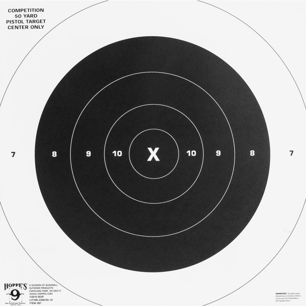 CLOSEOUTS . Pin up the Hoppes Center Paper targets to practice your marksmanship. Record your score and compare it with your friends. Available Colors: SEE PHOTO.