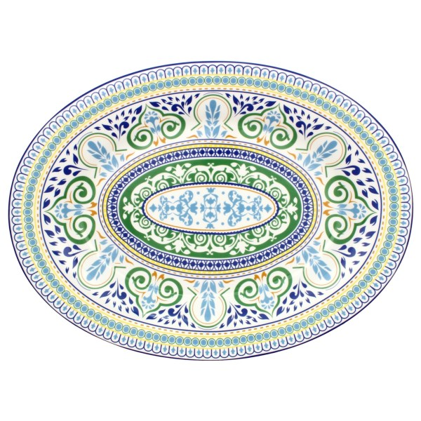 R Squared Algarve Hand-painted Oval Platter