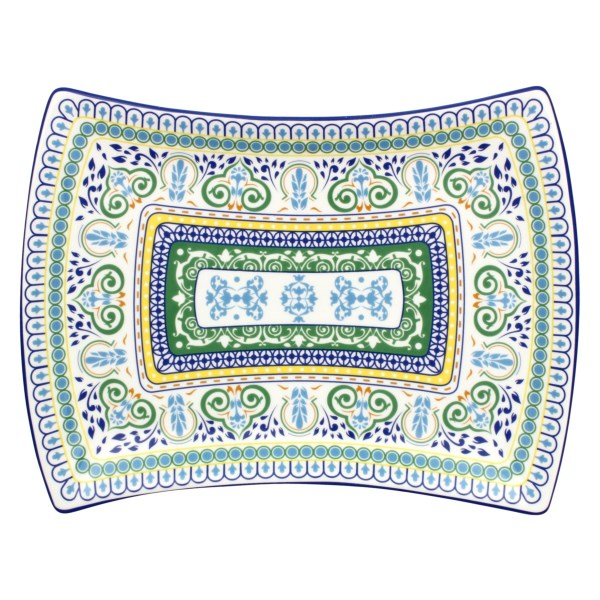 R Squared Algarve Hand-painted Appetizer Tray