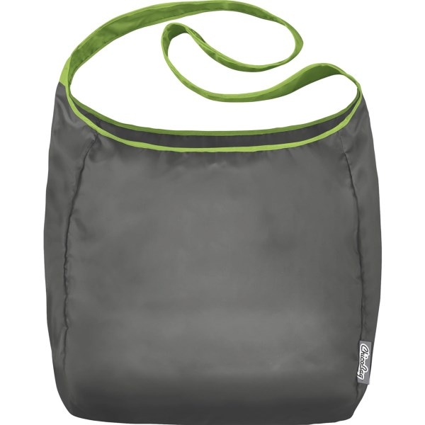 CLOSEOUTS . Clip the pouch to your purse or pack and youand#39;ll never get to the check-out counter without your reusable bag. Chicobagand#39;s Ultra-Compact Reusable Sling tote bag is whisper light and carries up to 40 lb. in its capacious interior. Available Colors: GLACIER, LIMESTONE, TOURMALINE.