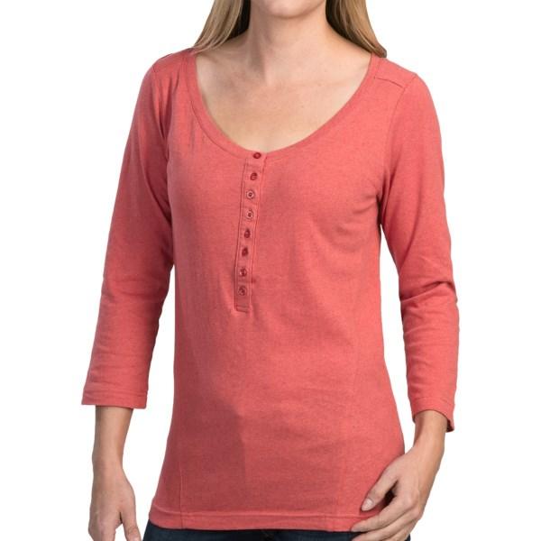Mountain Khakis Anytime Henley Shirt - Cotton-Linen, 3/4 Sleeve (For Women)