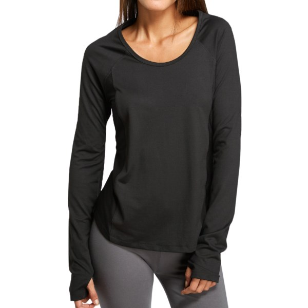 CLOSEOUTS . Thread 4 Thoughts Mercury shirt turns up the heat on your workout style while keeping you cool at the gym. Ventilating mesh back and side panels balance the supersoft, stretchy front fabric by adding some chic style and airy performance. Available Colors: BLACK, MERMAID COVE. Sizes: XS, S, M, L.