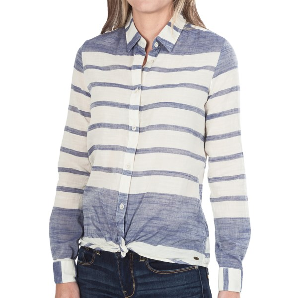 CLOSEOUTS . A light semi-sheer cotton weave with bold stripes, the Oand#39;Neill Brody shirt offers versatile, layer-ready style that can be taken all the way from beachy to dressy. Available Colors: DARK INDIGO. Sizes: XS, M, L, XL, S.