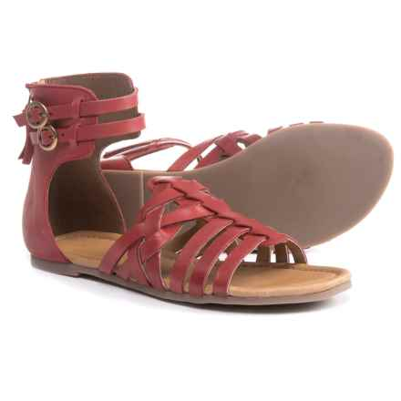 Eric Michael Arianna Sandals - Leather (For Women) in Red - Closeouts