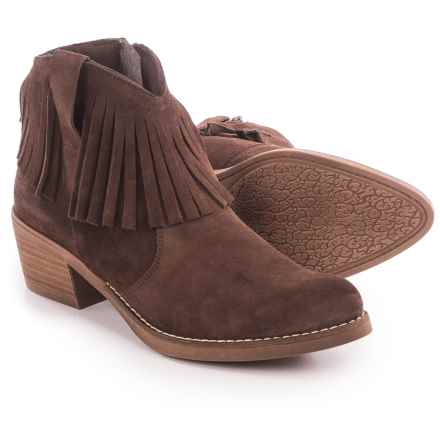 Eric Michael Beth Fringed Ankle Boots - Suede (For Women) in Brown - Closeouts