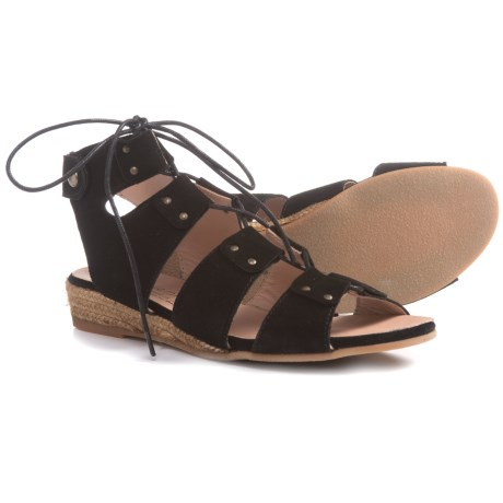 Eric Michael Cobra Sandals - Leather (For Women) in Black Suede