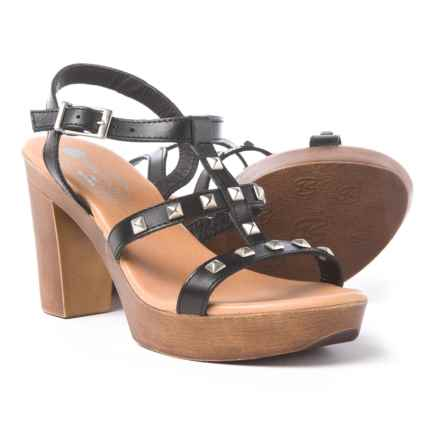 Eric Michael Ella Sandals - Leather (For Women) in Black - Closeouts