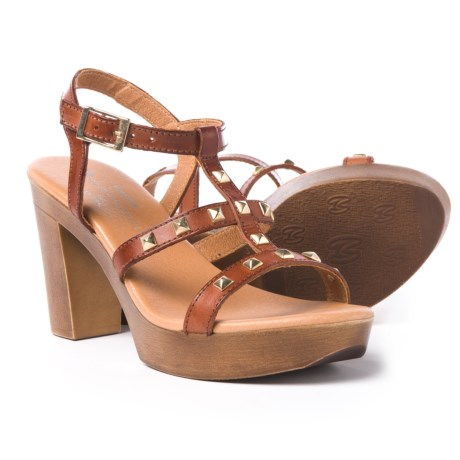 Eric Michael Ella Sandals - Leather (For Women) in Brown