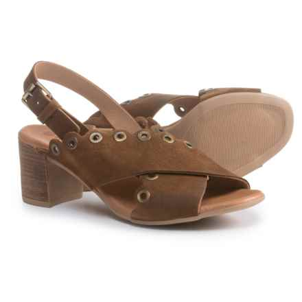 Eric Michael Emma Sandals - Suede (For Women) in Brown - Closeouts