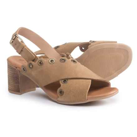 Eric Michael Emma Sandals - Suede (For Women) in Sand - Closeouts