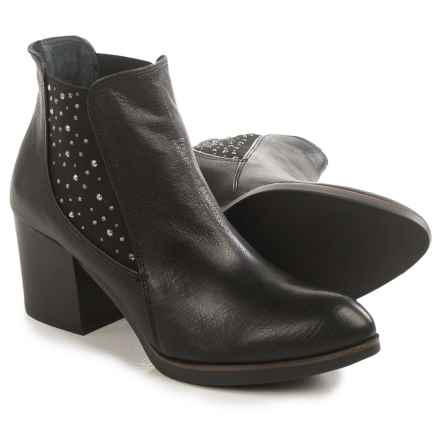 Eric Michael Erin Studded Ankle Boots - Leather (For Women) in Black - Closeouts
